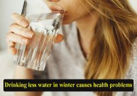 Drinking less water in winter causes health problems
